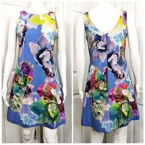 Amanda's Uprichard Silk Floral Sheath Dress